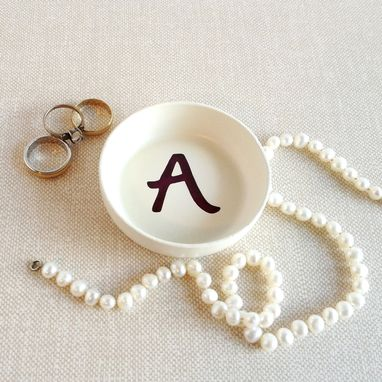 Custom Made Custom Ring Dish, Personalized Initial, Jewelry Holder