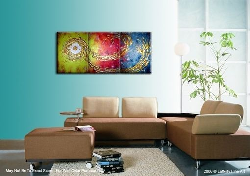 Custom Made Abstract Gold Original Huge Bronze Copper Textured Painting By Lafferty - One Day Sale 22% Off