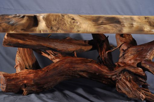 Custom Made Redwood Burl Coffee Table