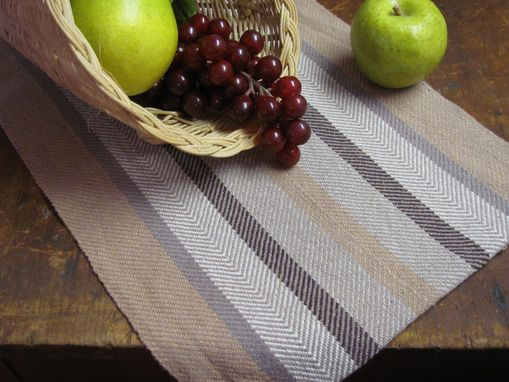 Custom Made Handwoven Cotton Twill Stripe Table Runner