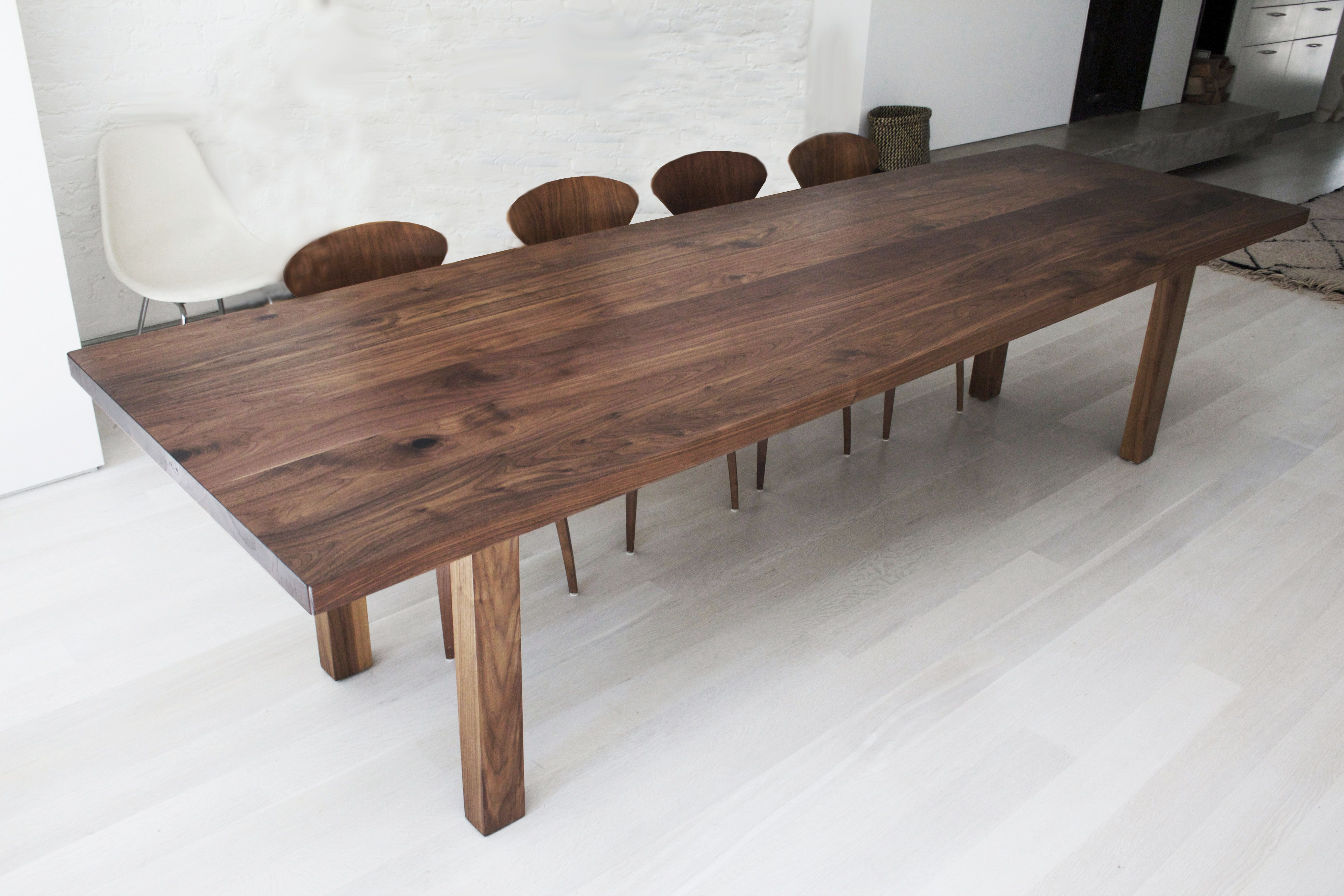 buy a custom made solid walnut dining table made to order from withers and grain. Black Bedroom Furniture Sets. Home Design Ideas