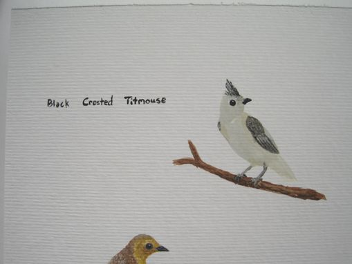 "Custom Made ""Thrush & Titmouse"" Watercolor Painting"