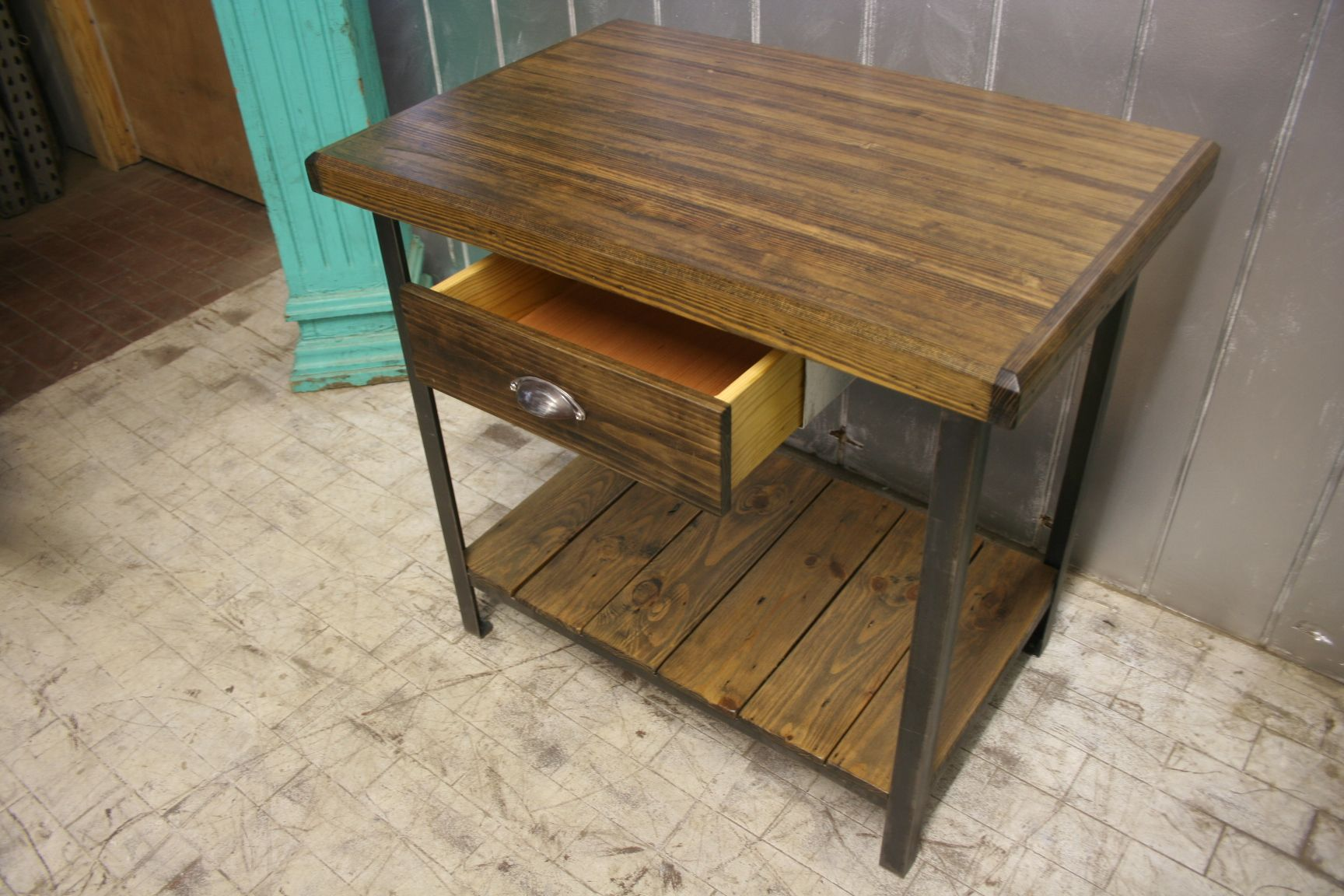 Kitchen Island 30 X 24 buy a hand made reclaimed wood industrial kitchen island, made to