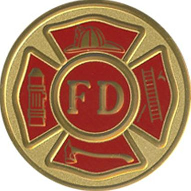 Custom Made Fire Dept Color Medallion