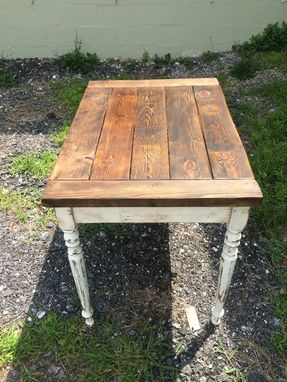 Custom Made Reclaimed Wood Farmhouse Table For Two