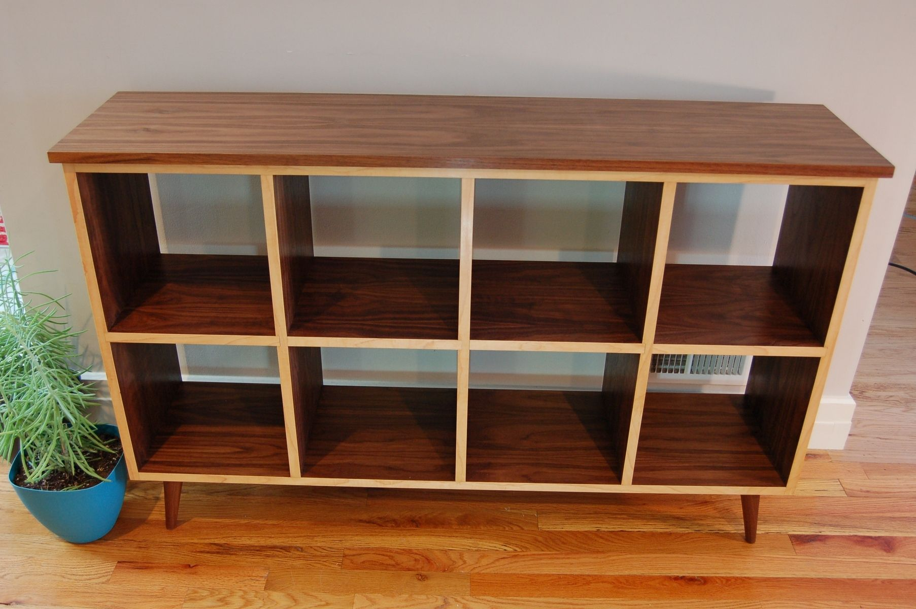 Furnishings Walnut Bookcase With Maple Edge Banding