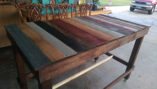 Custom Made Pallet Rolling Kitchen Carts
