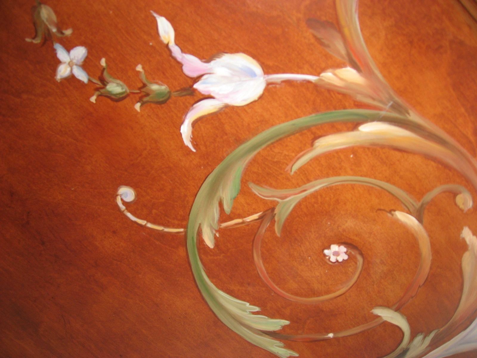 Handmade Faux Inlay Wood Mother Of Pearl Headboard 2