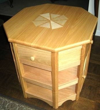 Custom Made Red Oak End Table