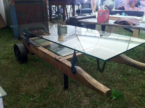 Custom Made Vintage Hand Truck Coffee Table