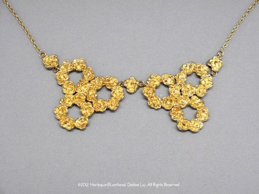 Custom Made Rose Collar Necklace - Gold Plated