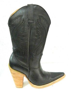 Hand Crafted Mens High Heel Cowboy Boots Up To 5 Inch High by ...