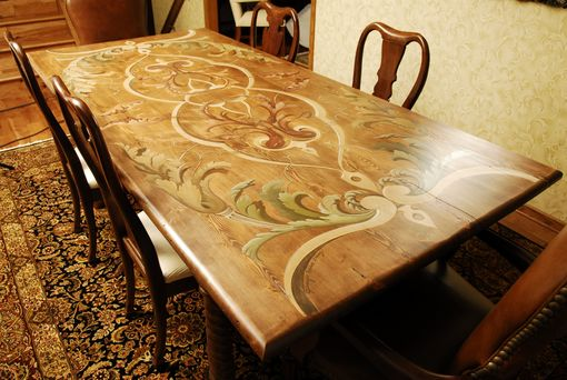 Custom Made Reclaimed Douglas Fir Dining Table
