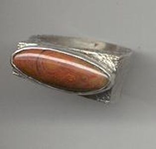 Custom Made Jasper And Texand Tured Sterling Ring