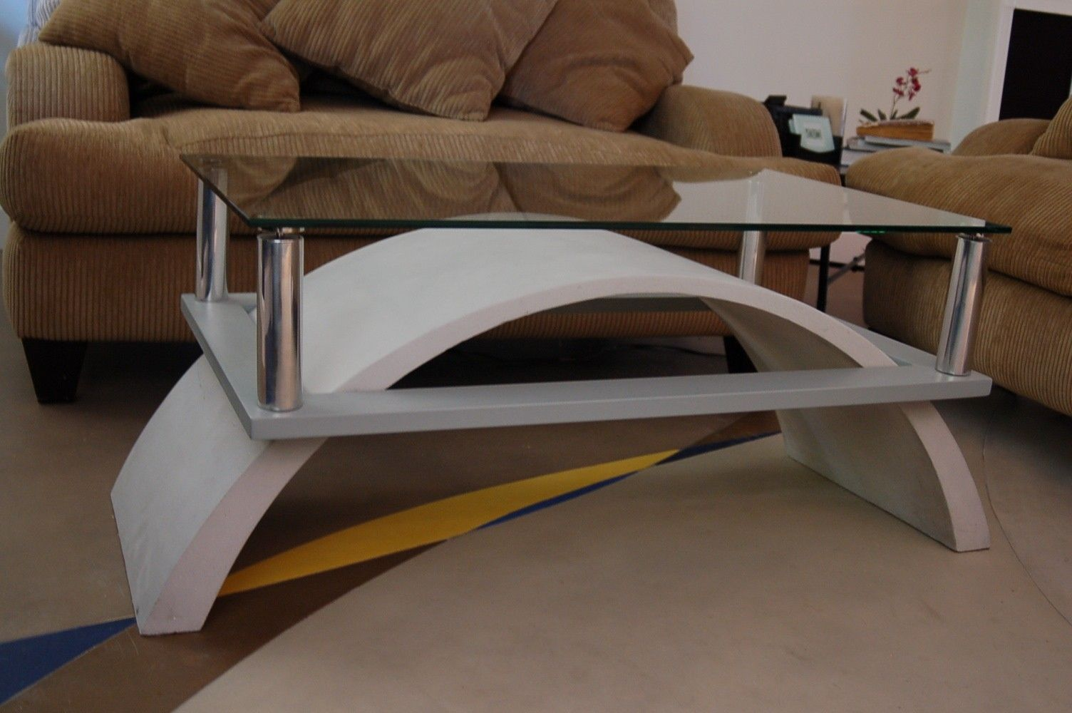 Handmade Custom Cast Concrete Coffee Table By Concrete