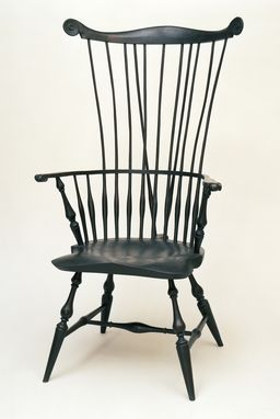 Custom Made Braced Comb Back Windsor Chair