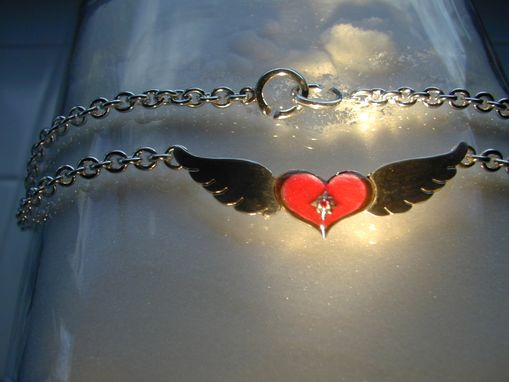 Custom Made Winged Heart Necklace