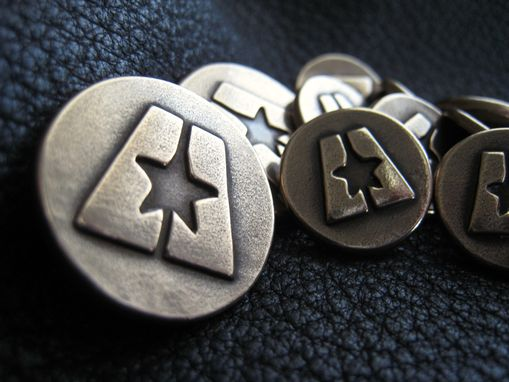 Custom Made Custom Blazer Buttons In Solid Bronze With Company Logo Or Coat Of Arms