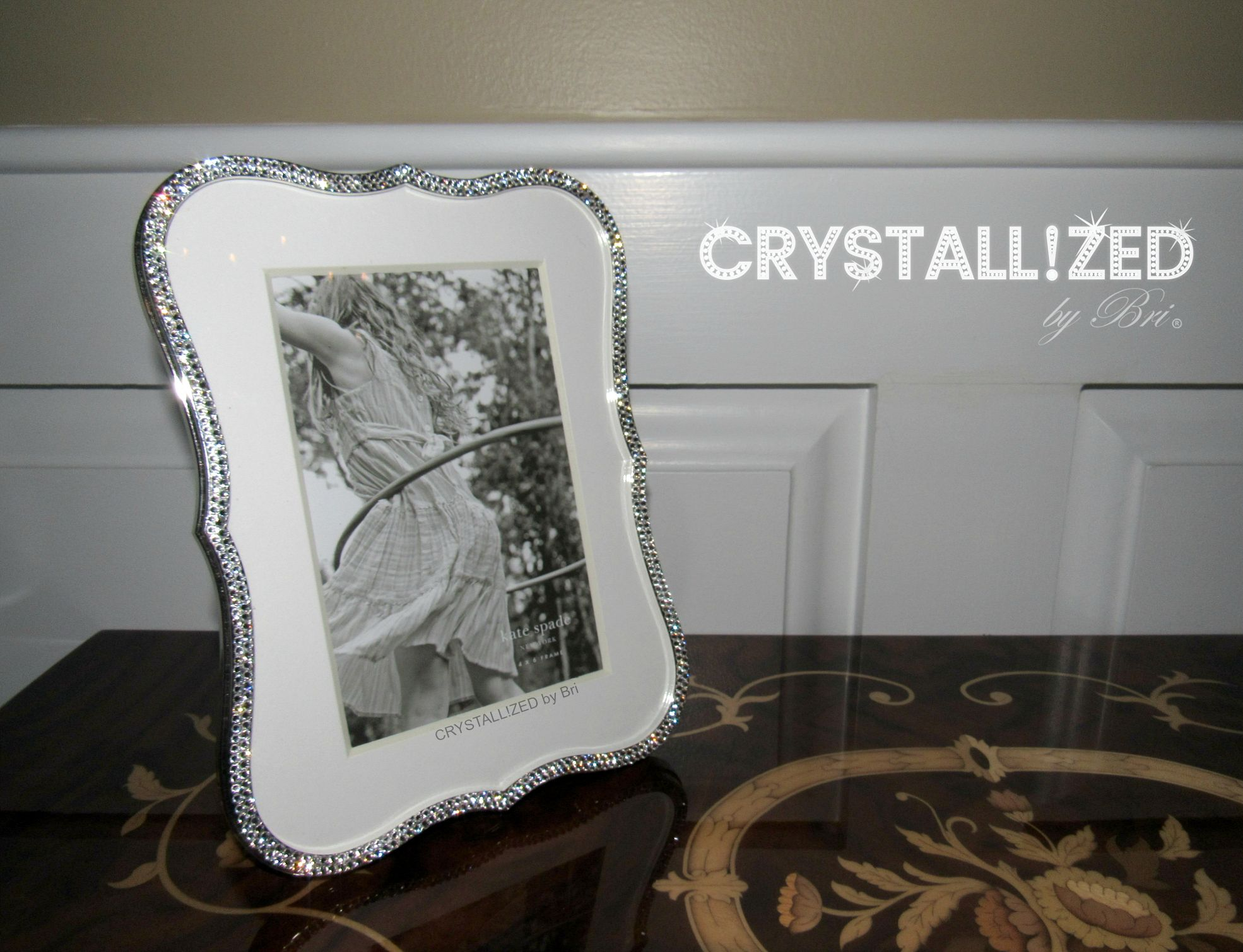 Buy Hand Crafted Crystallized Kate Spade Crown Point Picture Frame