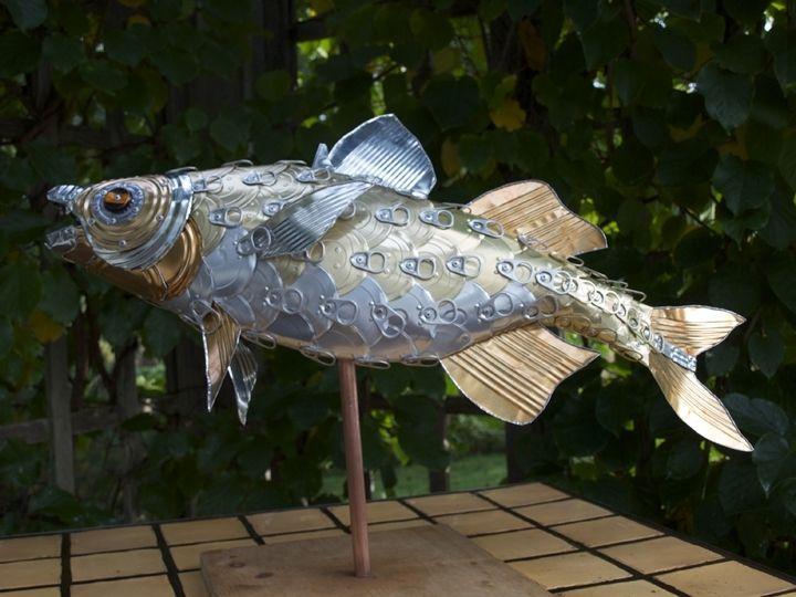 Handmade Perch Fish Sculpture By Alanna Baird Custommade Com