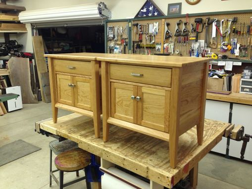 Custom Made Solid Cherry Bedside Tables