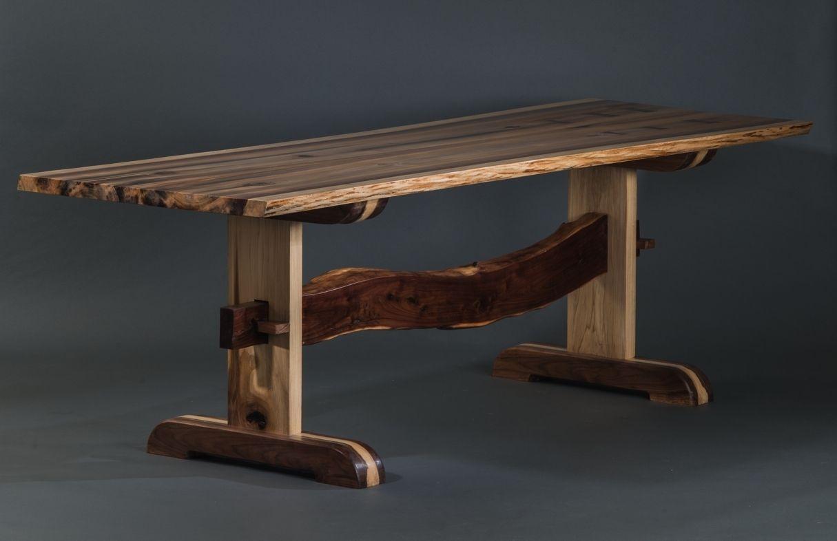 poplar wood furniture. Custom Rainbow Poplar Trestle Table By Walnut Wood Works | CustomMade.com Furniture