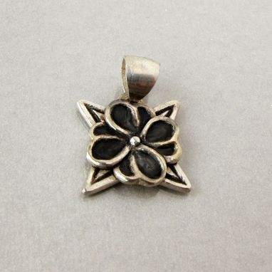 Custom Made Sterling Silver Hawaiian Flower Pendant