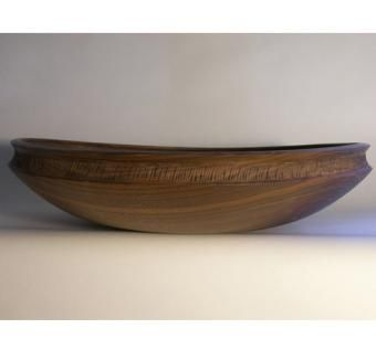 "Custom Made Walnut  Bowl 4""*19""*19'"