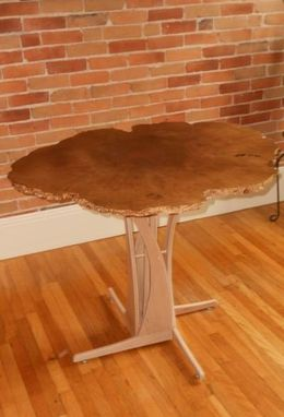 Custom Made Maple Burl Cafe Table