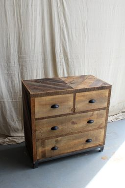 Custom Made Rustic Reclaimed & Sustainably Harvested Wood Dresser Nightstand Table