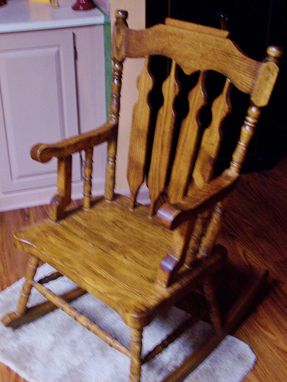 Custom Made Old Style Heavy King  Rocking Chair