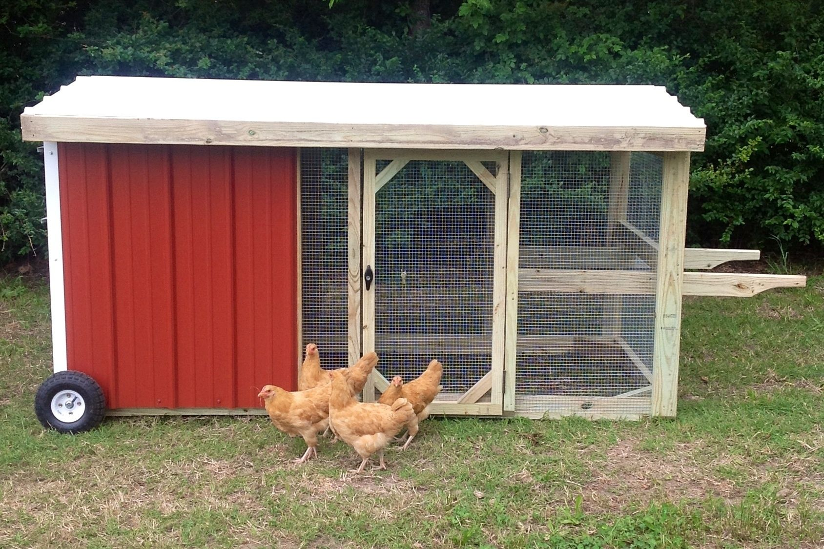hand made 4x8 rolling chicken coop chicken tractor by rocky top