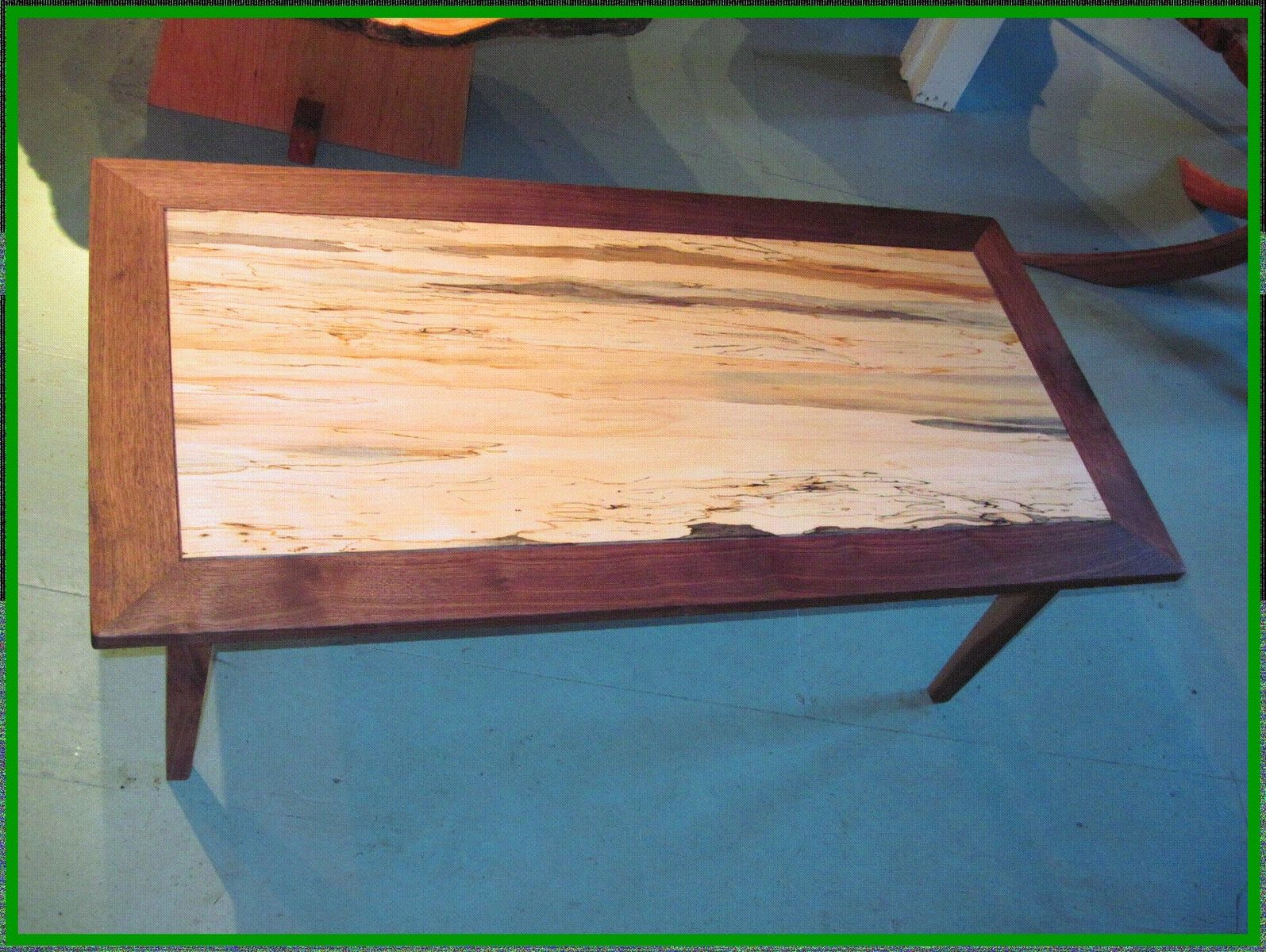 Hand Made Spalted Maple And Black Walnut Coffee Table By