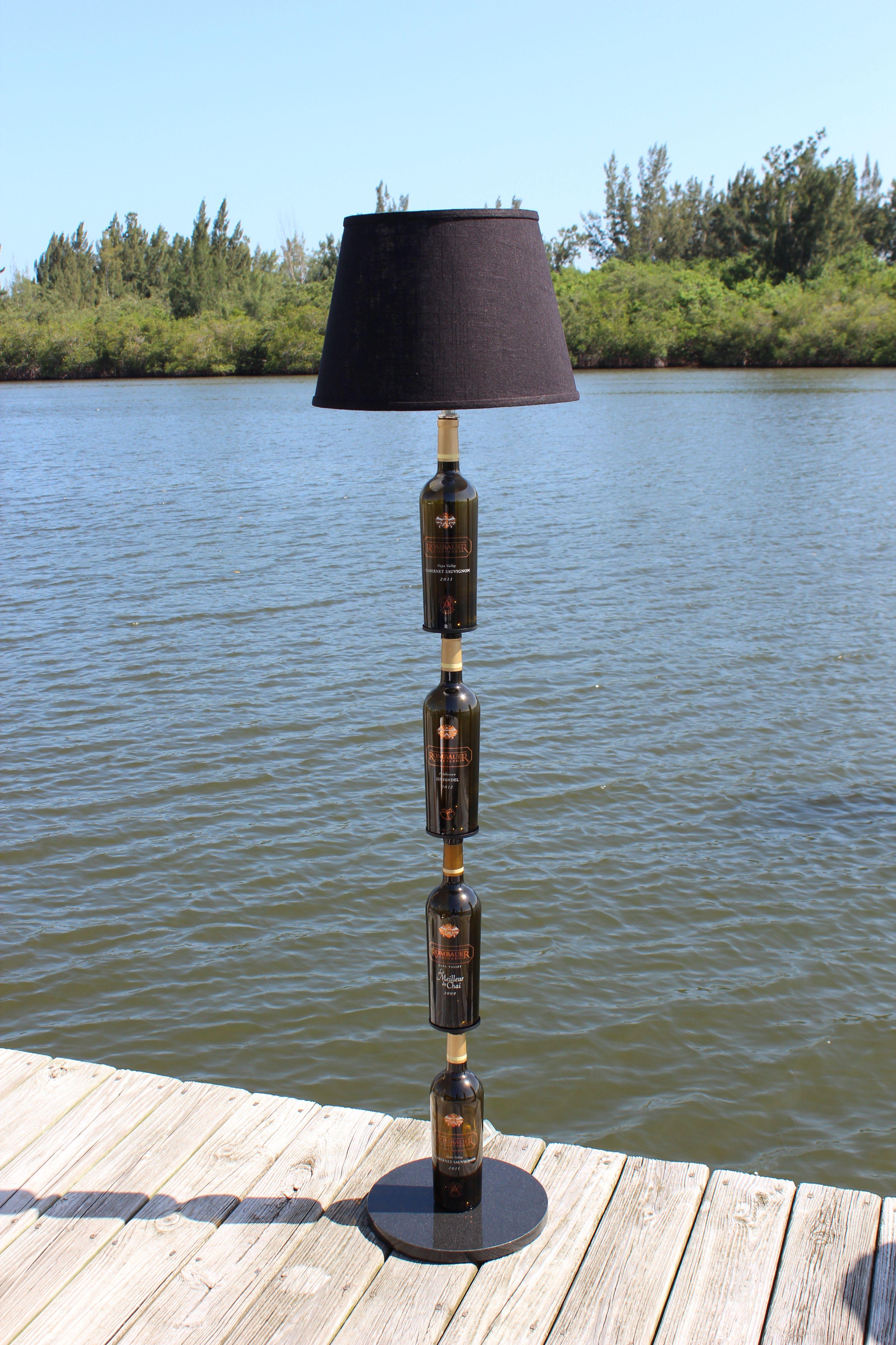 Buy A Custom Wine Bottle Floor Lamp Made To Order From