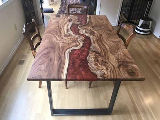Custom Made Amazing Elm Table W/ Resin River