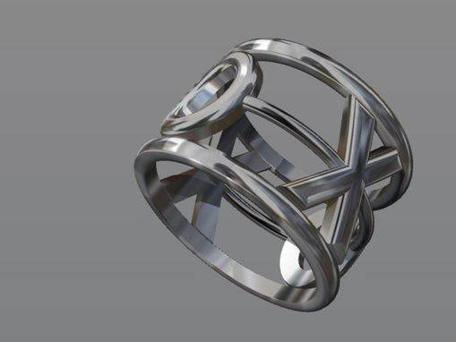 Custom Made Silver Xoxo Ring