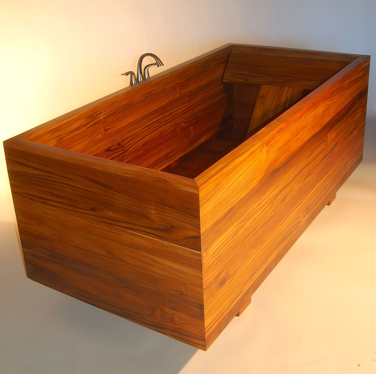 Handmade Custom Japanese Ofuro In Plantation Teak By Bath