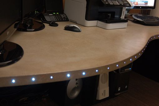 Custom Made Custom Cast Concrete Table With Fiber Optics