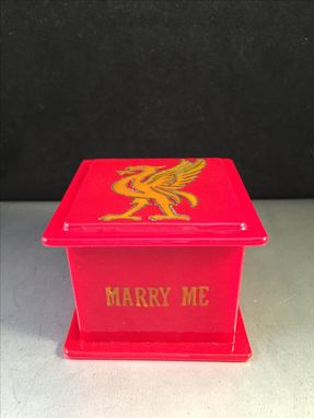 Custom Made Ring Box Custom Personalized For Proposal/Engagement Ring Box