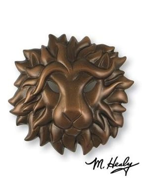 Custom Made Regal Lion Door Knocker Oiled Bronze