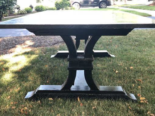 Custom Made Curved Trestle Custom Farmhouse Table