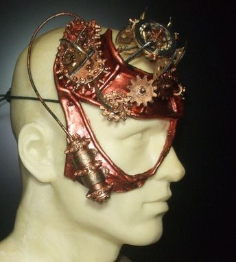 Custom Made Steampunk Intuition Leather Mask