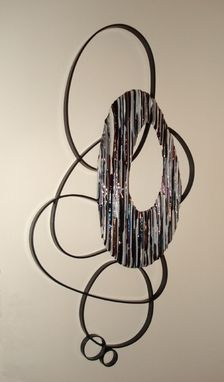 Custom Made Fused Glass Circle Wall Art