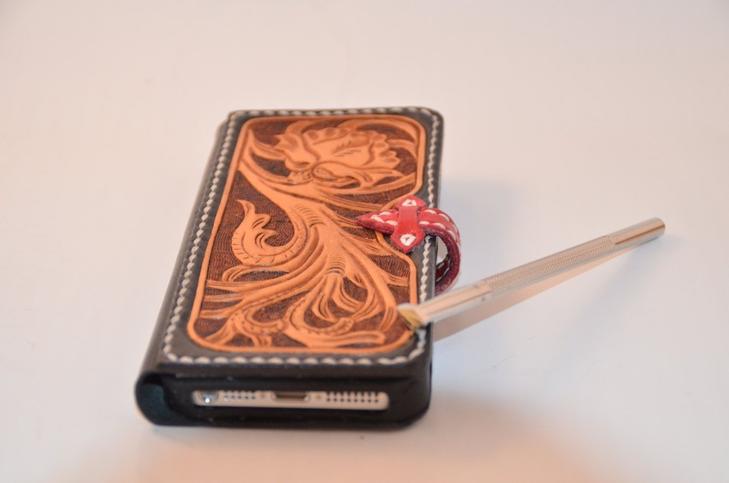 custom iphone case handmade all made leather iphone 5 by 10468