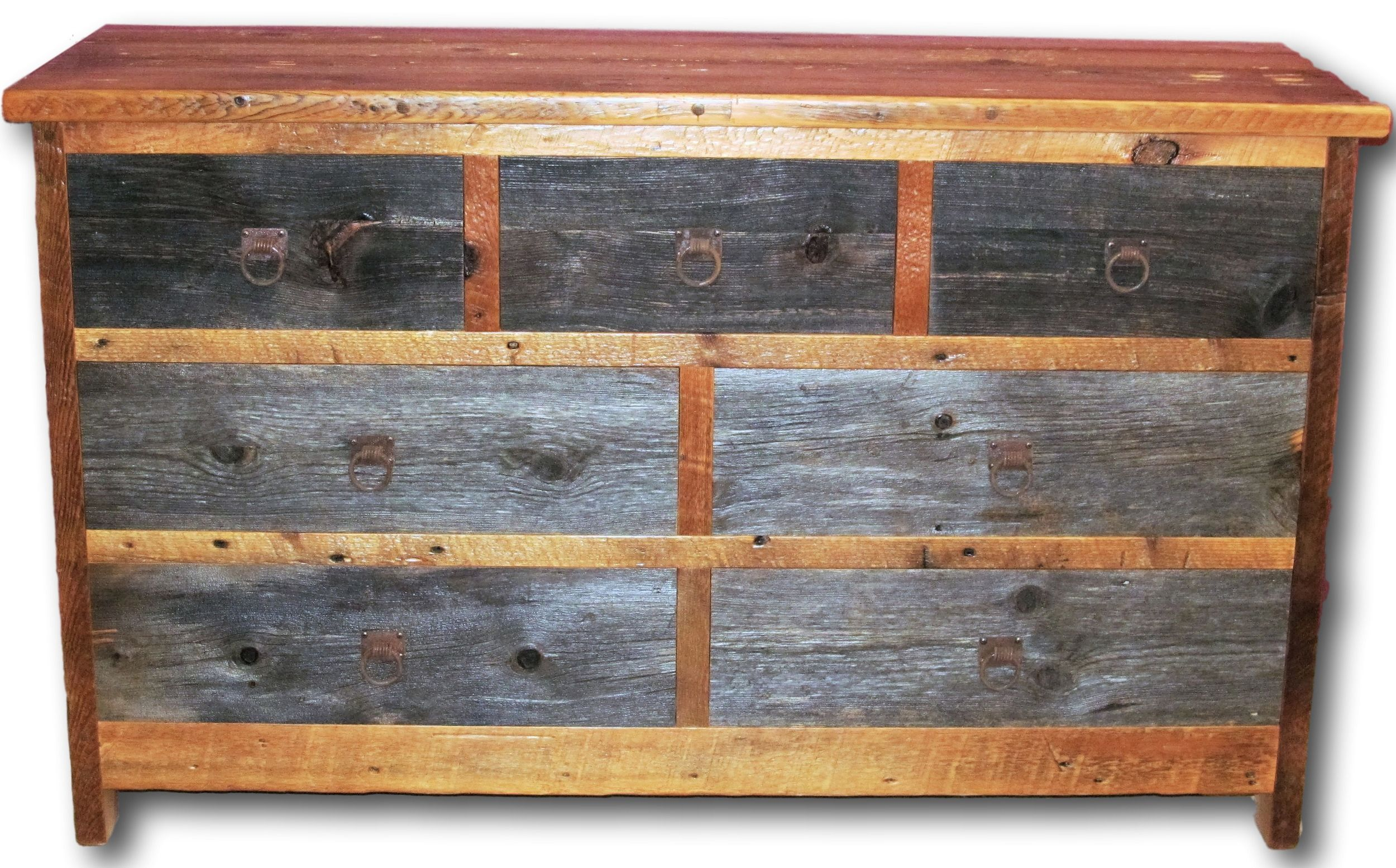 Buy a hand crafted reclaimed barn wood dresser two tone 7 for Buy reclaimed barn wood