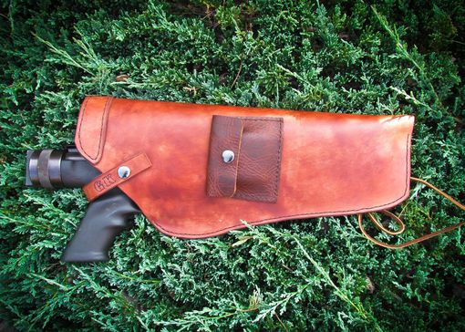 Custom Made Custom Made Gun Leather Gun Holster With Bullet Pouch