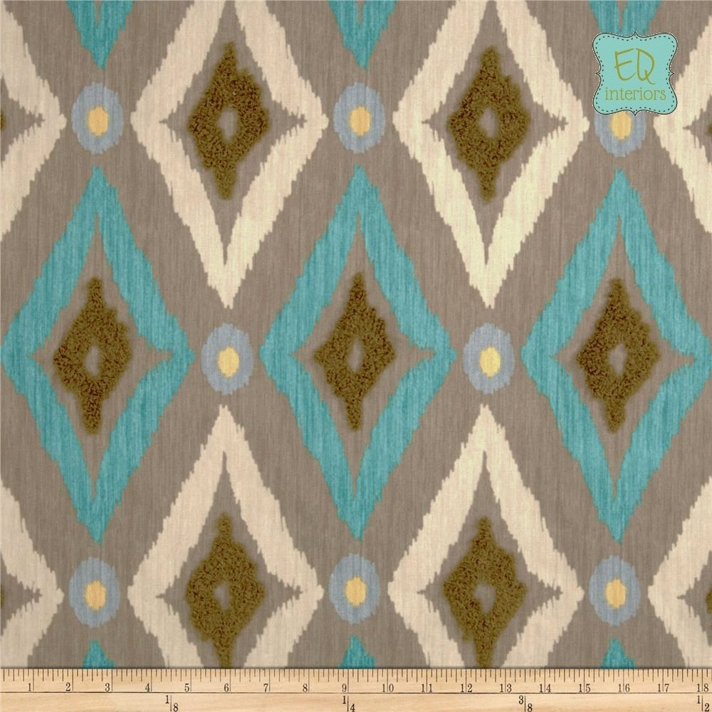 Designer curtain panels - Custom Made Custom Designer Curtain Panels Robert Allen Modern Ikat In Pool Blue 96 L X