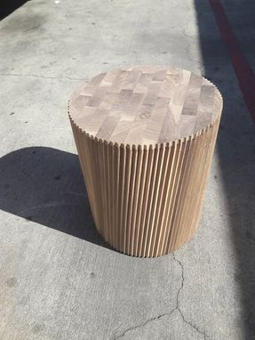 Custom Made Walnut Endgrain Pedestal
