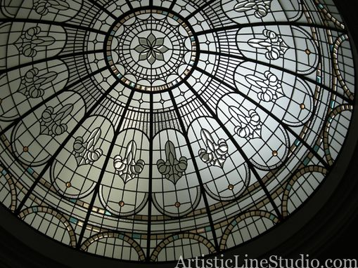Custom Made Leaded Glass Dome
