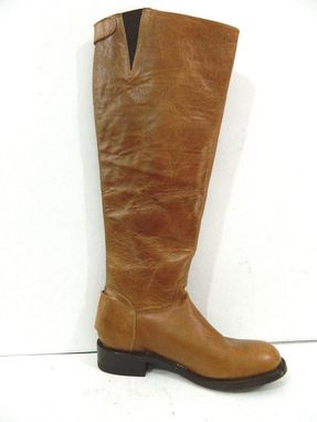 Custom Made Riding Boots 18¨Tall Large Calf Woman Size 9 In Stock Soft Leather Leather Sole